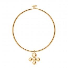 Bracelet Penelope avec pendentif Luck en plaqué or