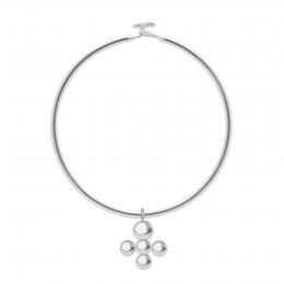 Bracelet Penelope avec pendentif Luck plaqué argen
