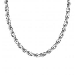 Collier chaîne No.2, plaqué argent, 60 cm