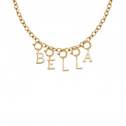 Collier BELLA, plaqué or