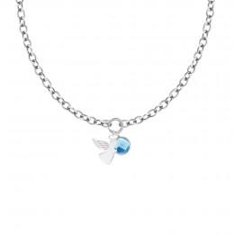 Collier chaîne No.1 avec ange et quartz bleu