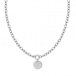 Collier chaîne No.1 avec médaillon argent 2 cm