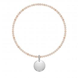 Bracelet Sun en pierres naturelles avec un médaillon argent