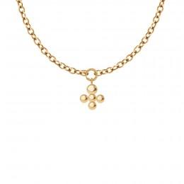 Collier Chaîne No.1 avec pendentif Luck, plaqué or