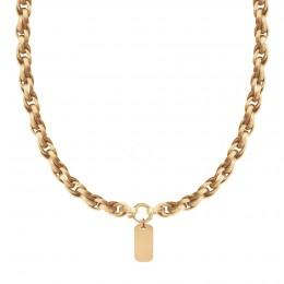Collier chaîne No.2 avec médaille, plaqué or