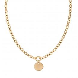 Collier chaîne No.1 avec médaillon plaqué or 2 cm