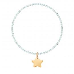 Bracelet Pluton en pierres naturelles avec une étoile plaquée or