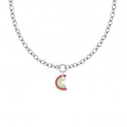 Collier Chaîne No.1 avec pendentif Rainbow, plaqué argent