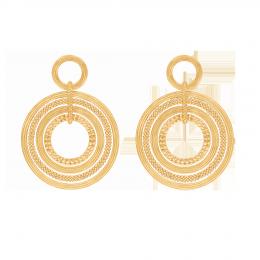 Boucles d'oreilles Etno, plaqué or