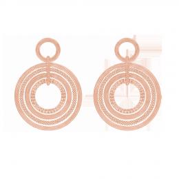 Boucles d'oreilles Etno, plaqué or rose