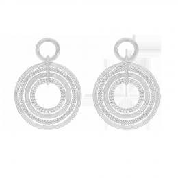 Boucles d'oreilles Etno, plaqué argent