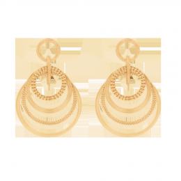 Boucles d'oreilles Etno Spacial, plaqué or