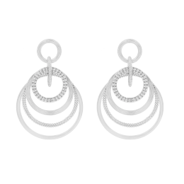 Boucles d'oreilles Etno Spacial, plaqué argent