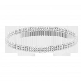 Bracelet Etno V plaqué argent