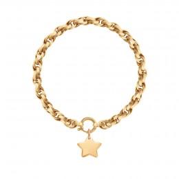 Bracelet chaîne No.2 avec étoile