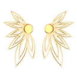 Boucles d'oreilles Sunshine plaquées or
