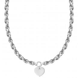 Collier chaîne No.2 avec coeur 2 cm