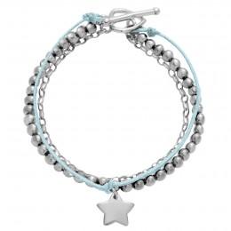 Bracelet St Germain avec étoile en argent