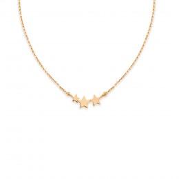 Collier Multistars avec trois étoiles, plaqué or