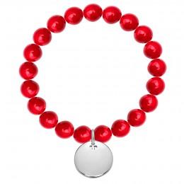 Bracelet Mars en pierres naturelles avec un médaillon argent