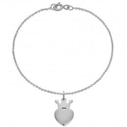 Bracelet avec une couronne King en argent sur une chaîne fine classique