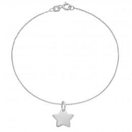 Bracelet avec étoile en argent sur une chaîne fine