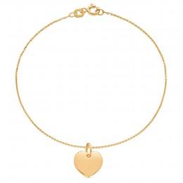 Bracelet avec croix plaquée or sur une chaîne fine