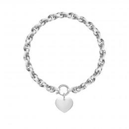 Bracelet chaîne No.2 avec coeur