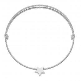 Bracelet avec une étoile Étincelle en argent sur un cordon épais doré premium