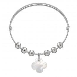 Bracelet Pearl Luck sur un cordon en argent premium