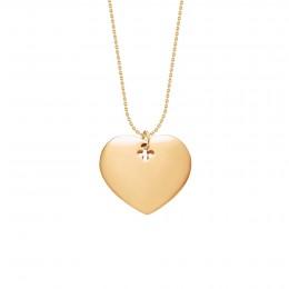 Collier avec cœur plaqué or sur une chaîne fine classique