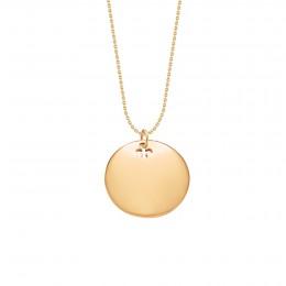 Collier avec médaillon plaqué or sur une chaîne fine classique