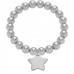 Bracelet avec une étoile en argent et des perles en argent