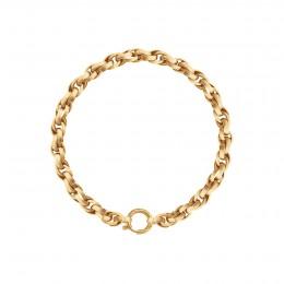 Bracelet chaîne No.2, plaqué or