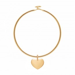Bracelet Penelope avec 1,5 cm cœur plaqué or