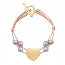 Bracelet Valentine, plaqué or