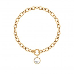 Bracelet chaîne No.1 avec pendentif quartz blanc