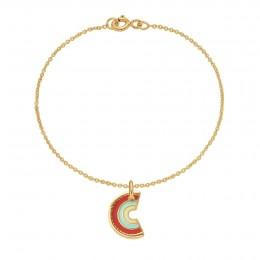 Bracelet avec pendentif Rainbow sur chaîne