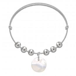 Bracelet Pearl Harmony sur un cordon en argent premium