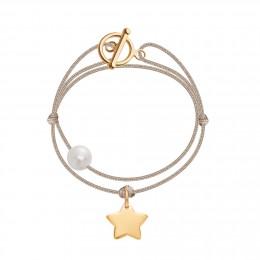 Bracelet Cannes, plaqué or