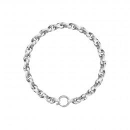 Bracelet chaîne No.2, plaqué argent