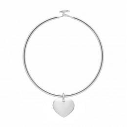 Bracelet Penelope avec 1,5 cm cœur plaqué argent