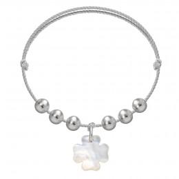 Bracelet Pearl Felicity sur un cordon en argent premium
