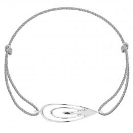 Bracelet avec un Paon en argent sur un cordon épais en argent premium