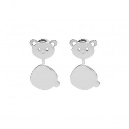 Boucles d'oreilles Nounours en argent