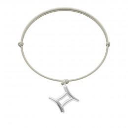 Bransoletka z posrebrzanymi Bliźniętami na cienkim perłowym sznurku