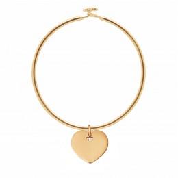 Bracelet Penelope avec 2 cm cœur plaqué or