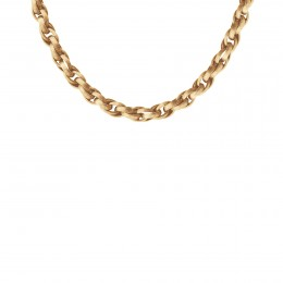 Collier chaîne No.2, plaqué or, 40 cm