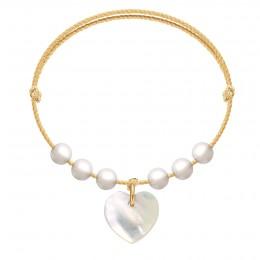 Bracelet Pearl Love sur un cordon doré premium