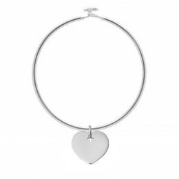 Bracelet Penelope avec 2 cm cœur en argent